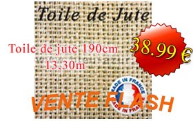 Vente flash toile jute