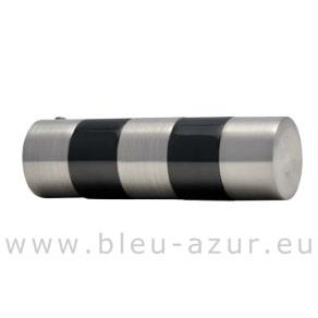 304-Support Cylindre bi-color nickel brossé/ nickel mat