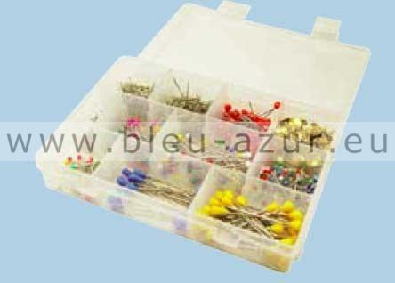 Bo te plastique avec plusieurs compartiments achat for Boite a couture avec accessoires