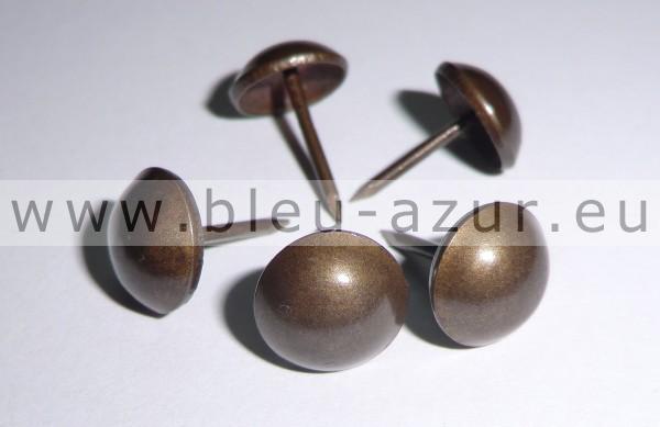 35 clous de tapissier perle fer Ø 14 mm BRONZE RENAISSANCE  fauteuil siège
