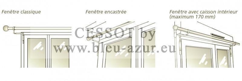 supports sans per age pour fen tre classique encastr e. Black Bedroom Furniture Sets. Home Design Ideas