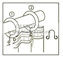 agrafe lyre laiton achat agrafes pour rideaux. Black Bedroom Furniture Sets. Home Design Ideas