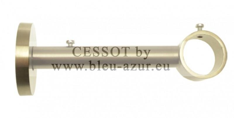 298 Support lorgnon démontable embase Ø 50mm - Ø125mm Nickel mat - Fiche technique