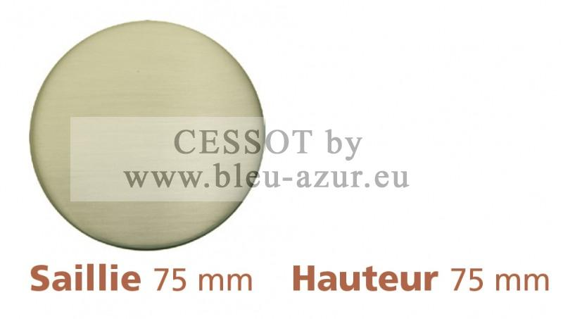 298 - Embout Rond Ø 28mm Nickel mat - Fiche technique